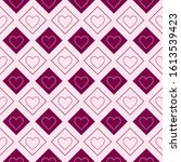 valentines day repeat pattern.... | Shutterstock .eps vector #1613539423