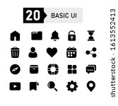basic ui outline icon set