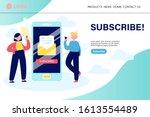 e mail subscription concept....