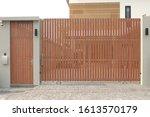Modern Sliding Wooden Gate House