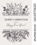 elegant vintage botanical card...   Shutterstock .eps vector #1613570620