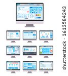 collection of ui ux gui graphic ...