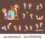 brother and sister games. kids...   Shutterstock .eps vector #1613596540