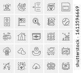 25 universal icons vector... | Shutterstock .eps vector #1613596669