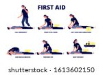first aid reanimation. cpr... | Shutterstock .eps vector #1613602150