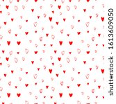vector seamless pattern doodle... | Shutterstock .eps vector #1613609050
