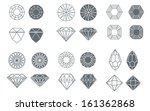 vector set of diamond design...   Shutterstock .eps vector #161362868