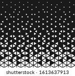 halftone triangle abstract... | Shutterstock .eps vector #1613637913