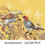 vector floral illustration of... | Shutterstock .eps vector #161367914