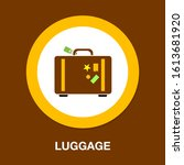 suitcases icon  travel...   Shutterstock .eps vector #1613681920