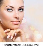 beauty portrait. beautiful spa... | Shutterstock . vector #161368493