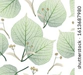 Seamless Pattern With Linden...