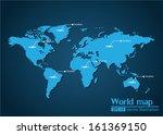 world map illustrator vector | Shutterstock .eps vector #161369150