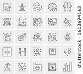 25 universal icons vector... | Shutterstock .eps vector #1613694163