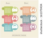people icons infographic concept | Shutterstock .eps vector #161370434