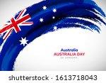 australia flag made in... | Shutterstock .eps vector #1613718043