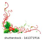 christmas holly decoration.... | Shutterstock . vector #161371916