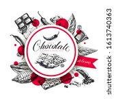 chocolate hand drawn vector... | Shutterstock .eps vector #1613740363