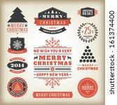christmas decoration vector... | Shutterstock .eps vector #161374400