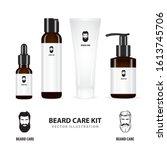 beard care. realistic beard...   Shutterstock .eps vector #1613745706