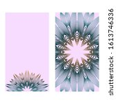 design vintage cards with... | Shutterstock . vector #1613746336