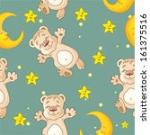 pattern with teddy bear | Shutterstock .eps vector #161375516