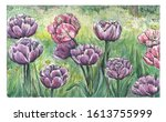 Spring Watercolor Painting Wit...