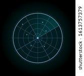 abstract blue radar screen...