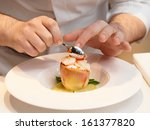 chef is cooking a delicious... | Shutterstock . vector #161377820
