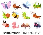 Cute Insects. Bugs Creatures...