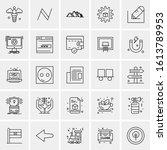 25 universal icons vector... | Shutterstock .eps vector #1613789953