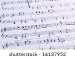 piano sheet music with a... | Shutterstock . vector #16137952