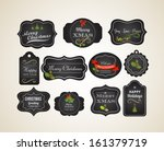 chalkboard christmas vintage... | Shutterstock .eps vector #161379719