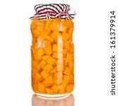 homemade natural sliced... | Shutterstock . vector #161379914