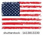 grunge usa flag. vector...   Shutterstock .eps vector #1613813230