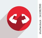 vector red circle icon  on gray ... | Shutterstock .eps vector #161382500