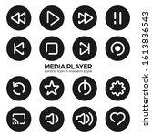 media player control icon in...