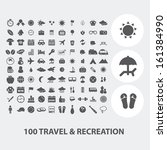 100 travel  tourism  vacation... | Shutterstock .eps vector #161384990