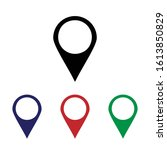 location icon vector. pin sign. ... | Shutterstock .eps vector #1613850829