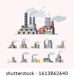 factory. industrial buildings... | Shutterstock .eps vector #1613862640
