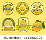 lemonade badges. retro labels... | Shutterstock .eps vector #1613862706
