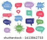 communication tags. cartoon... | Shutterstock .eps vector #1613862733