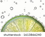 Lemon Slices In Water With Air...