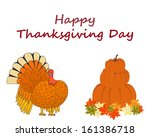 thanksgiving day background... | Shutterstock .eps vector #161386718