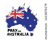 australia fire. social poster.... | Shutterstock .eps vector #1613870179