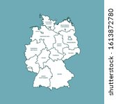 vector map of the germany | Shutterstock .eps vector #1613872780