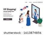modern clothing store isometric ...