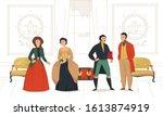 18th 19th century victorian...   Shutterstock .eps vector #1613874919