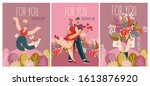 set of greeting vector cards...   Shutterstock .eps vector #1613876920