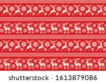 christmas pixel pattern with... | Shutterstock .eps vector #1613879086